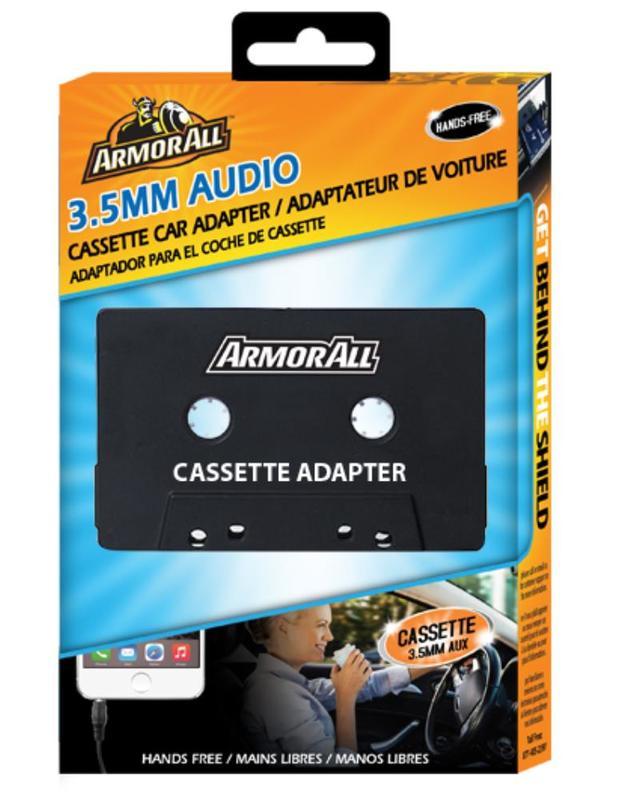 Armor All: 3.5mm Audio Cassette Car Adapter