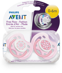 Avent: 0-6m Freeflow Soothers (2 Pack)