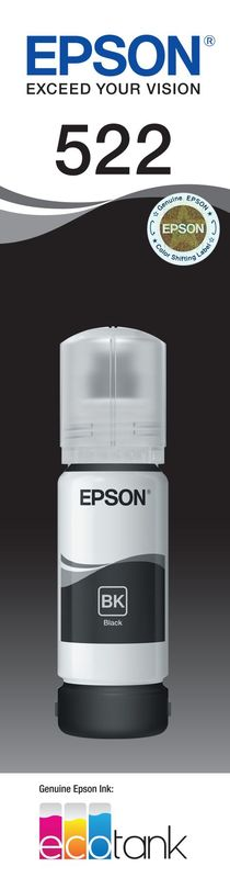 Epson T522 Black Ink Bottle
