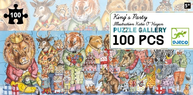 Djeco: 100pc Gallery Puzzle - Kings Party