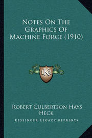 Notes on the Graphics of Machine Force (1910) by Robert Culbertson Hays Heck