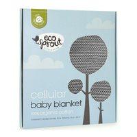 Ecosprout: Cotton Cellular Bassinet Blanket - Dove Grey