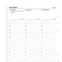 Filofax: A5 2020 Refill - Week on Two Pages English Column Format (Lined) image