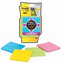 Post-it Super Sticky Full Adhesive Notes Assorted Bright Colours - 25shts/pad (Pkt 4)