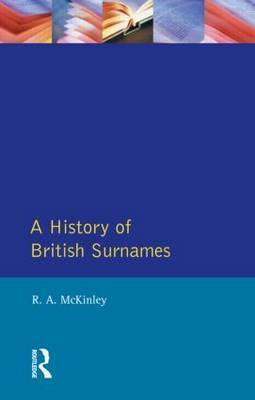 A History of British Surnames by Richard McKinley image