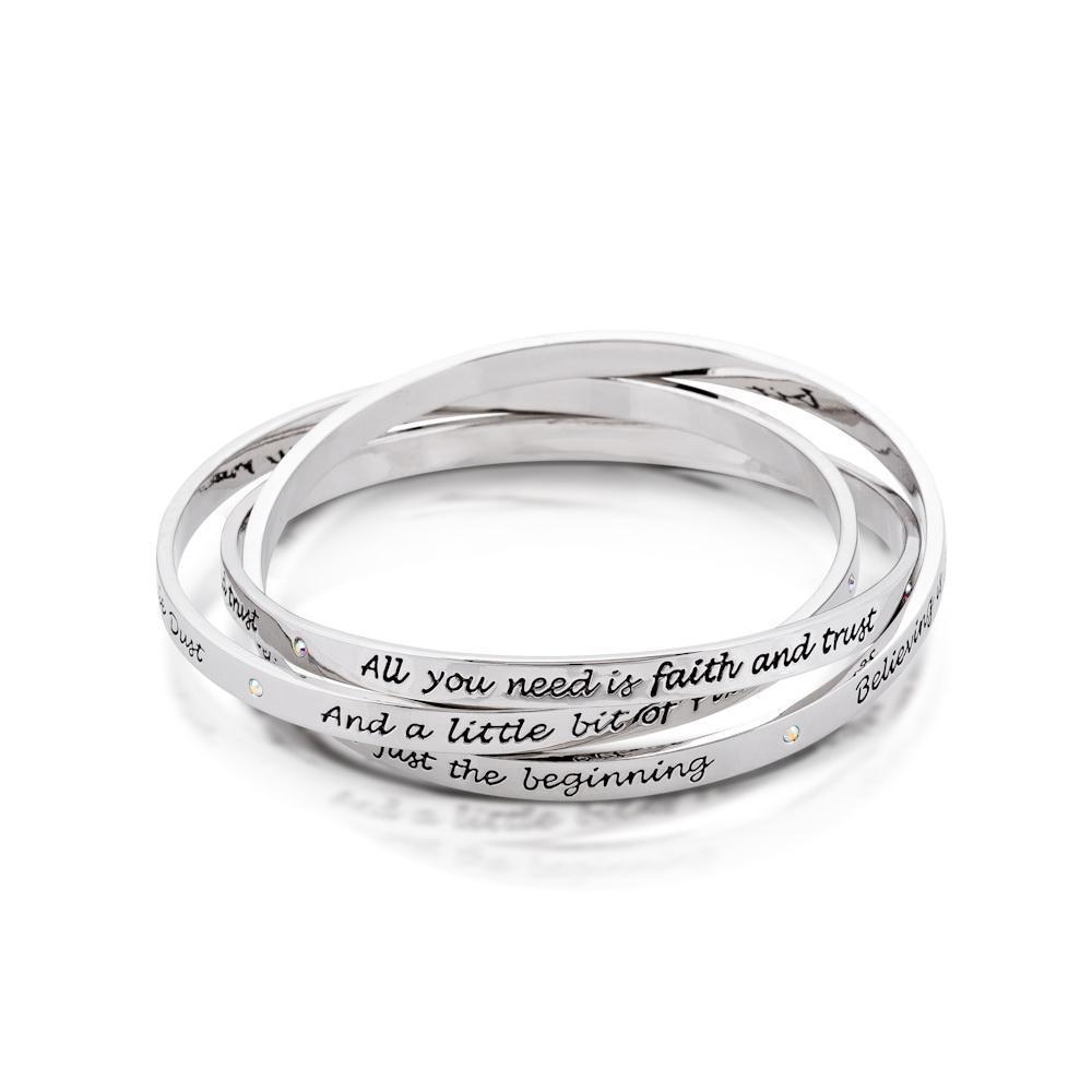 Couture Kingdom: Disney Silver Interlocking Bracelet image