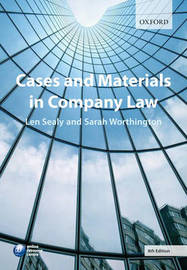 Cases and Materials in Company Law by Professor L.S. Sealy image