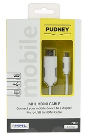 Pudney: MHL 2.0 To HDTV Hdmi Cable 2 Metre - White
