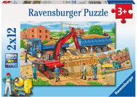 Ravensburger - Busy Construction Site Puzzle (2x12pc)