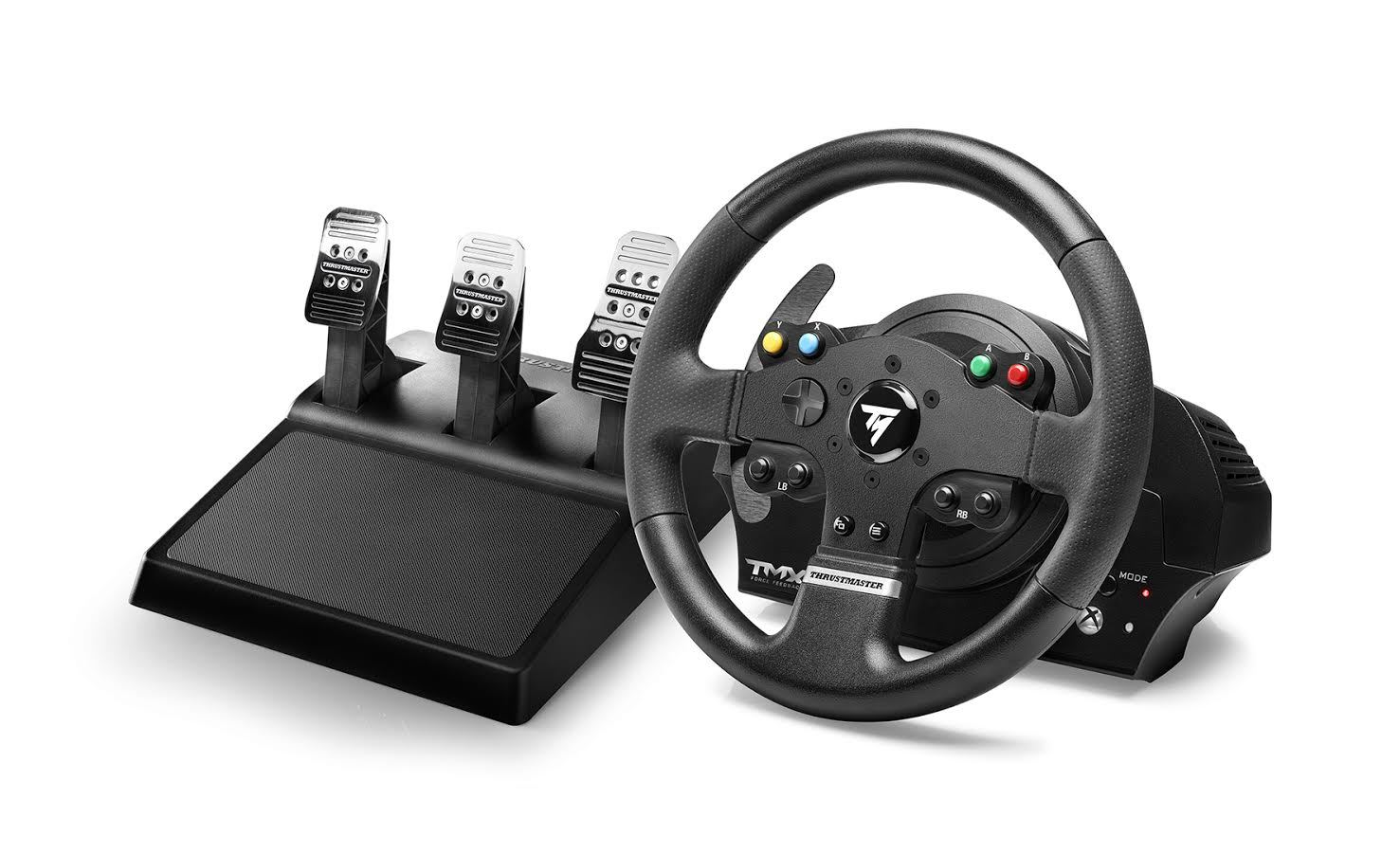 thrustmaster tmx pro racing wheel xbox one pc xbox one on sale now at mighty ape nz. Black Bedroom Furniture Sets. Home Design Ideas