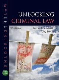 Unlocking Criminal Law by Jacqueline Martin image