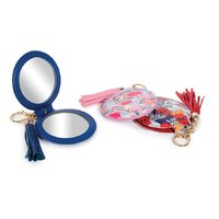 Botanical Mirror Keychain