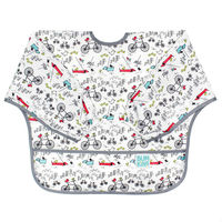 Bumkins: Waterproof Sleeved Bib - Urban Bird