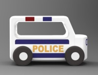 Moover: Police - Wooden Mini Car