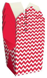 Noodle Gift Box - Red & White Chevron