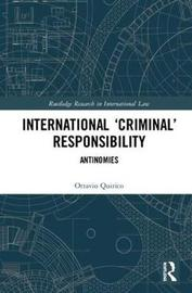 International `Criminal' Responsibility by Ottavio Quirico