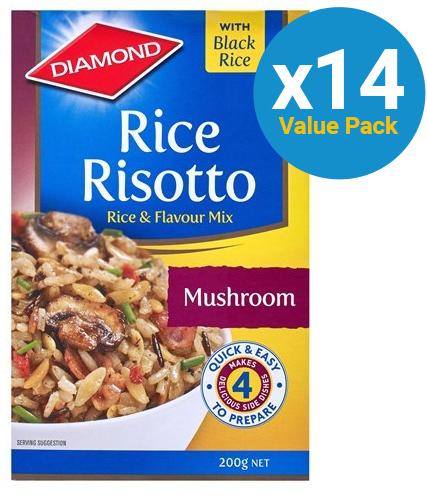 Diamond: Rice Risotto Mushroom 200g (14 Pack)