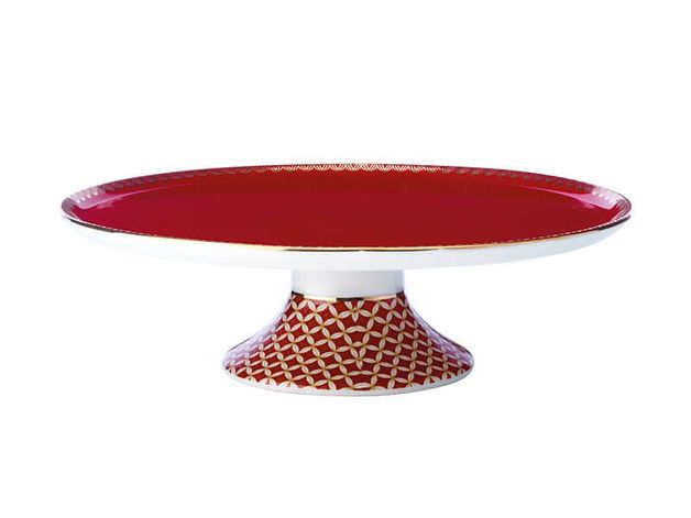 Maxwell & Williams Teas & C's: Classic Footed Cake Stand - Cherry Red