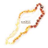 Bambeado Premium Amber Necklace Baby Bud - Rainbow