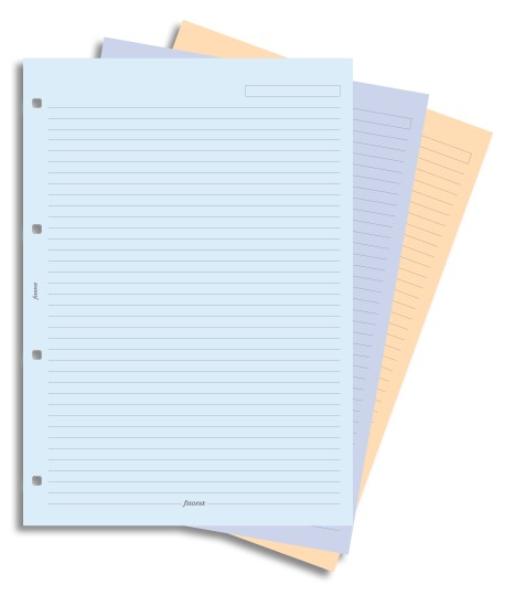 Filofax - A4 Lined Notepaper - Assorted Colours (30 Sheets)