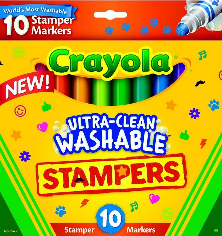 10 Ultra Clean Expression Stamper Markers - Crayola image