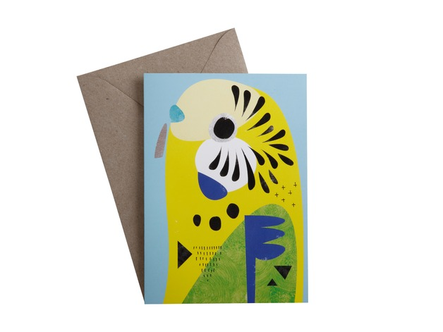 Pete Cromer: Greeting Card - Budgerigar