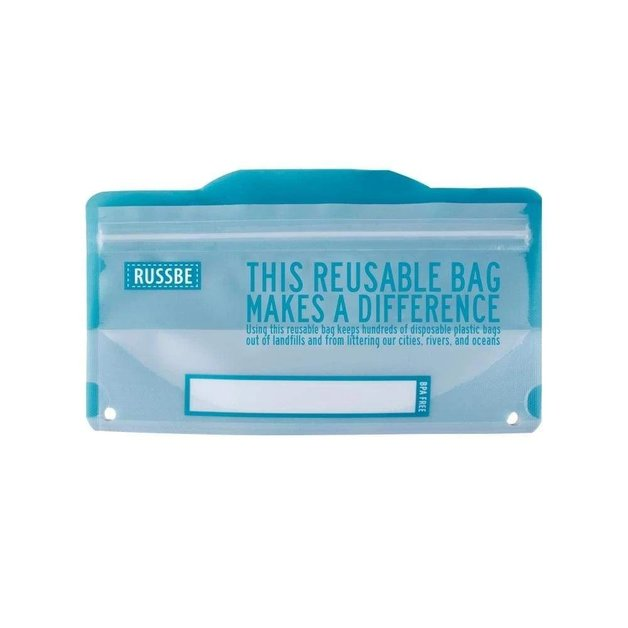 Russbe Snack Bags 8 Pack - Blue Statement