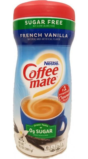 Nestle Coffee-Mate Sugar Free French Vanilla Powder