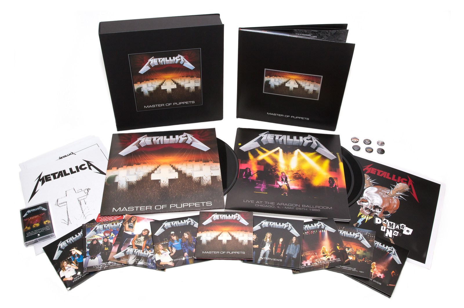 Master of Puppets [Deluxe Box Set] (2xLP, 10xCD, 2xDVD & 1 cassette) by Metallica image