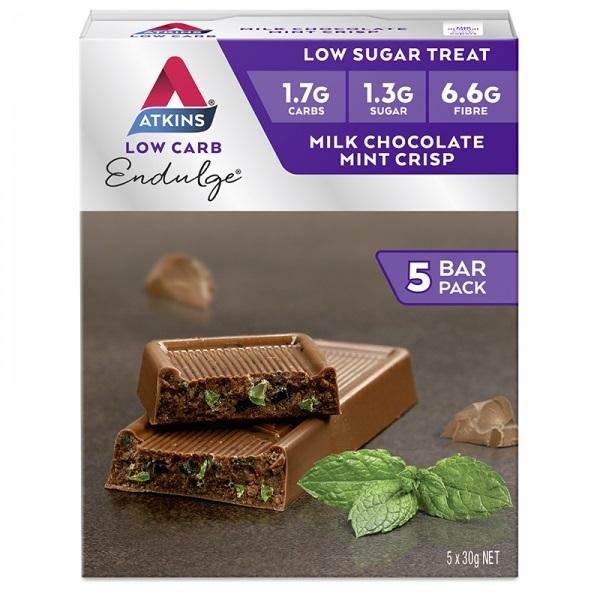 Atkins Endulge Bars - Milk Chocolate Mint Crisp (5 x 30g)
