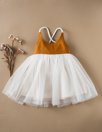 Karibou Kids: Willa Linen Reversible Tutu Dress - Woodland 5YRS image