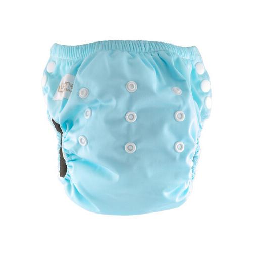 Little Genie: Reusable Charcoal Training Pants - Blue
