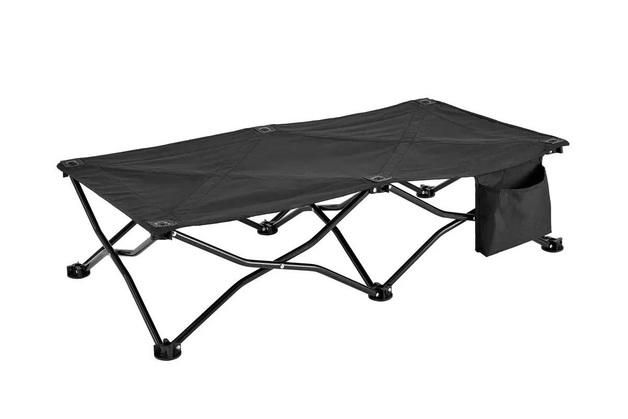 Ovela Children's Portable Camp Bed Camping Cot (Black)