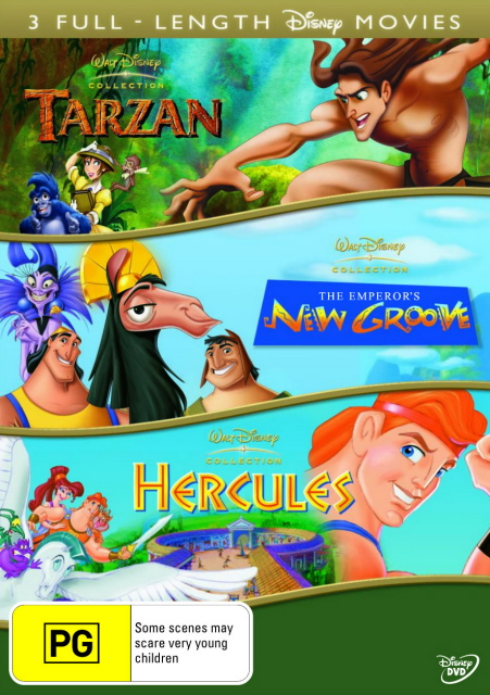 Tarzan (1999) / Emperor's New Groove / Hercules (1997) (3 Disc Set) on DVD image