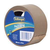 Sellotape: Premium Packaging Tape - Vinyl Brown (48mmx55m)