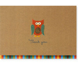 Owl Thank You Notes (14 Cards/Envelopes)