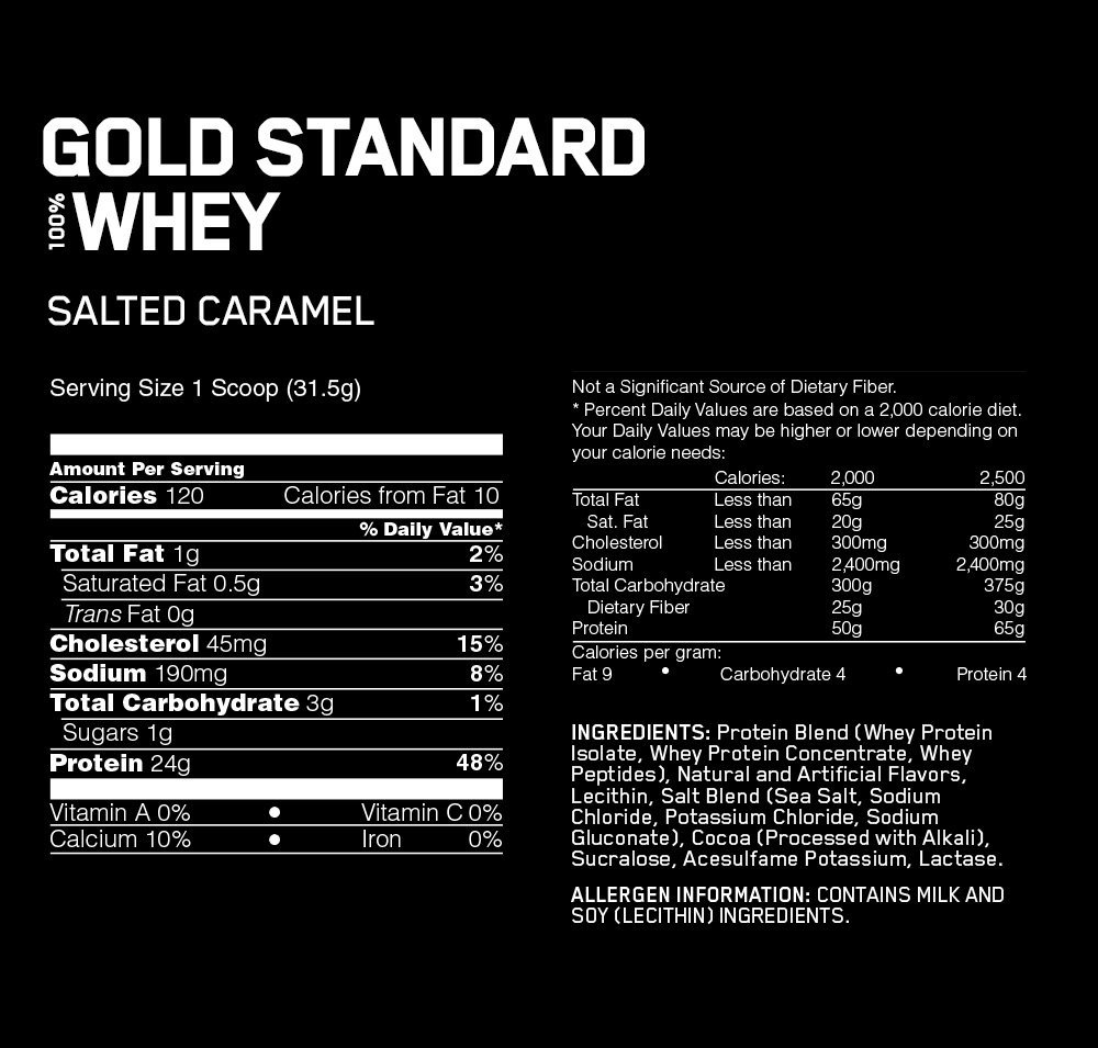 Optimum Nutrition Gold Standard 100% Whey - Salted Caramel (2.27kg) image