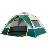 1-2 Person Instant Dome Camping Tent with 3 Windows - Waterproof and UV Protection UPF 50+ image