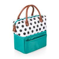 Picnic Time: Urban Lunch Bag (Polka Dots & Teal)