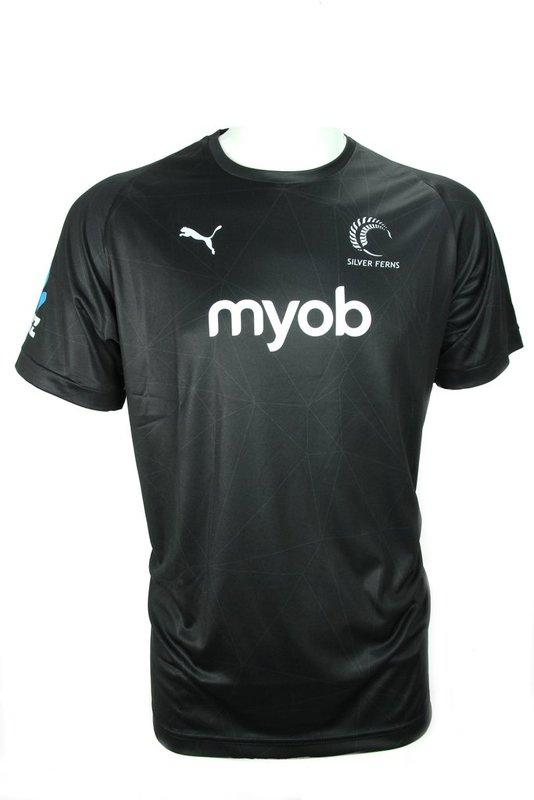 Puma: Silver Ferns Mens Match T-shirt: Black (Medium)