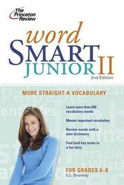 Princeton Review: Word Smart Junior by C. L Brantley image