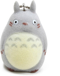 Studio Ghibli - Grey Totoro Flocked Key Chain