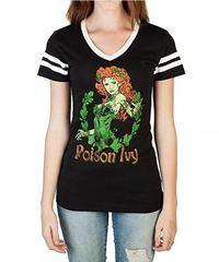 DC Comics Poison Ivy V-Neck T-Shirt (X-Large)