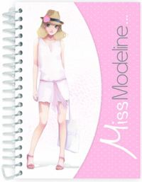 Miss Modeline A6 Notepad and Design Book - Clementine image