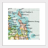 Coromandel Vintage Map Print - Framed