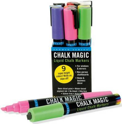 Chalk Magic Liquid Chalk Markers (9 Marker Pens)