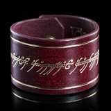 Lord of the Rings: Leather Cuff - One Ring Inscription
