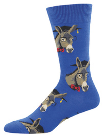 Men's Smart Ass Crew Socks - Blue