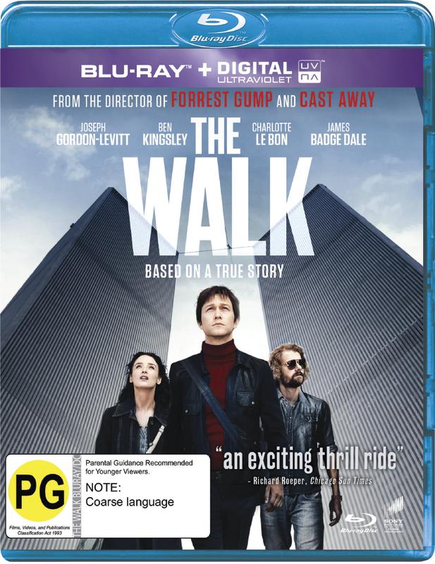 The Walk on Blu-ray, UV