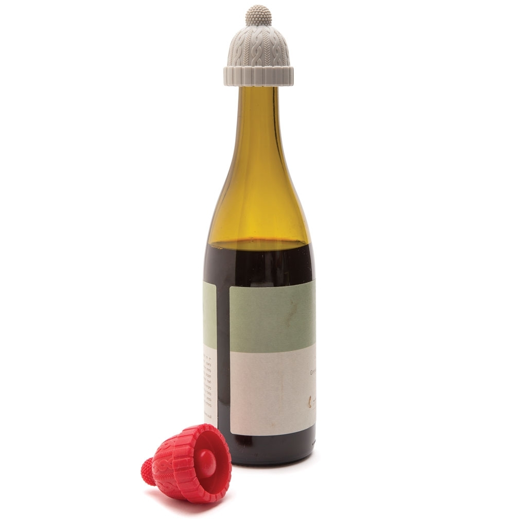 Monkey Business: Beanie Bottle Stoppers (Red & Grey) image